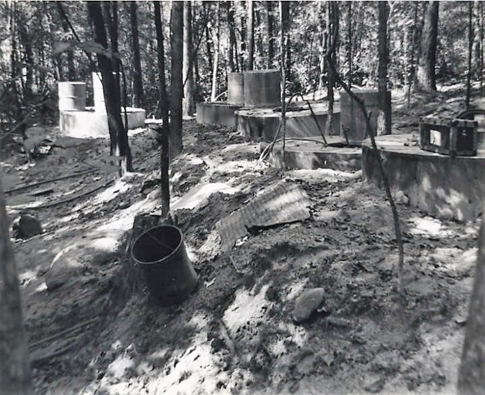 Below ground vats of liquor stills in Chambers County, Alabama (Alabama Department of Archives and History)