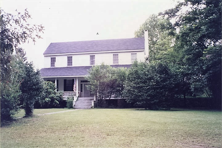 Front (western elevation) of the Hawthorn-McCreary House in Belleville, Alabama (Alabama Department of Archives and History)