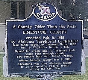 Limestone County, Alabama - Part I described (with settlers) by a resident in 1867