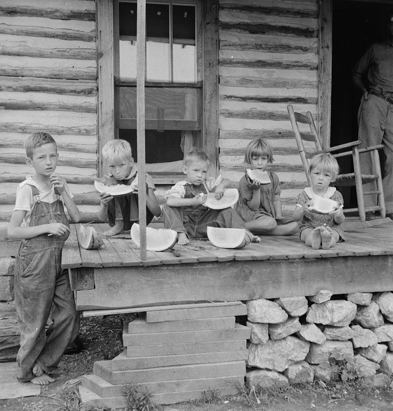 Watermelon, eating North Carolina Dorothea Lange (Library of Congress)