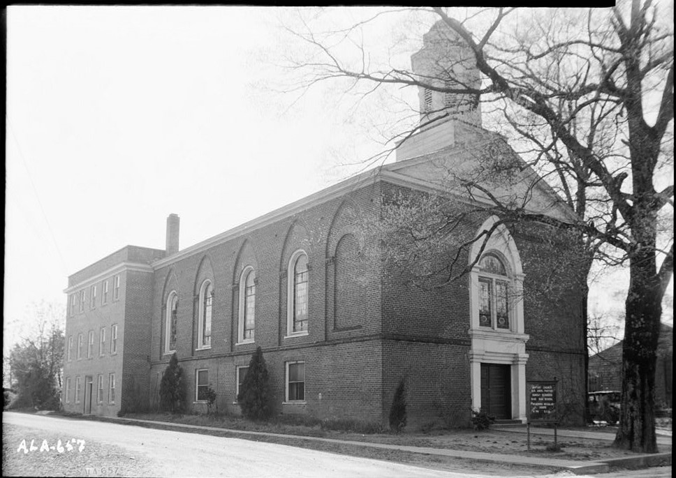 First Baptist Church Wetumpka, Alabama ca. 1930s (Historic American Buildings Survey, Library of Congress