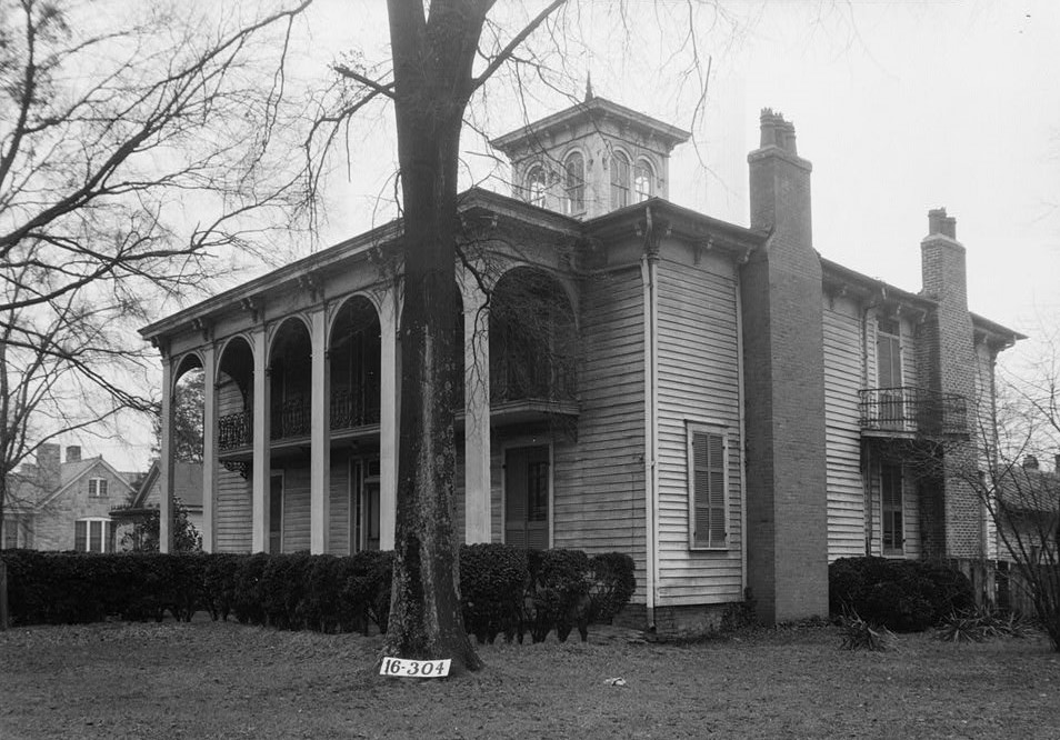 Frances Snow Pryor home in Athens, Georgia ca 1930s (HABS - LIbrary of Congress)