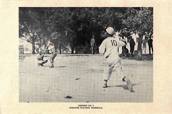 Inmates playing baseball at the Reform School for Juvenile Negro Law Breakers in Mt. Meigs, Alabama 1945 Q3208 (Alabama Department of Archives and History)