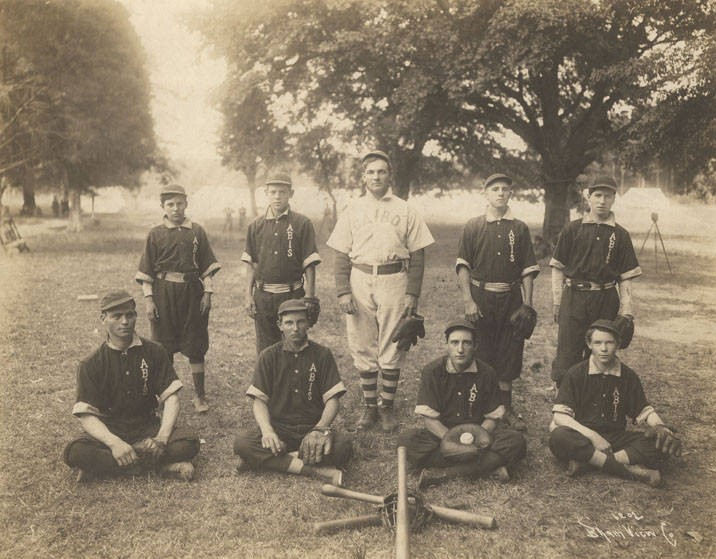 Members of the baseball team at the Alabama Boys Industrial School in Jefferson County, Alabama ca. 1900 Q9520 (Alabama Department of Archives and History)