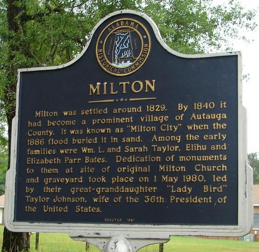 Milton, Autauga county, Alabama