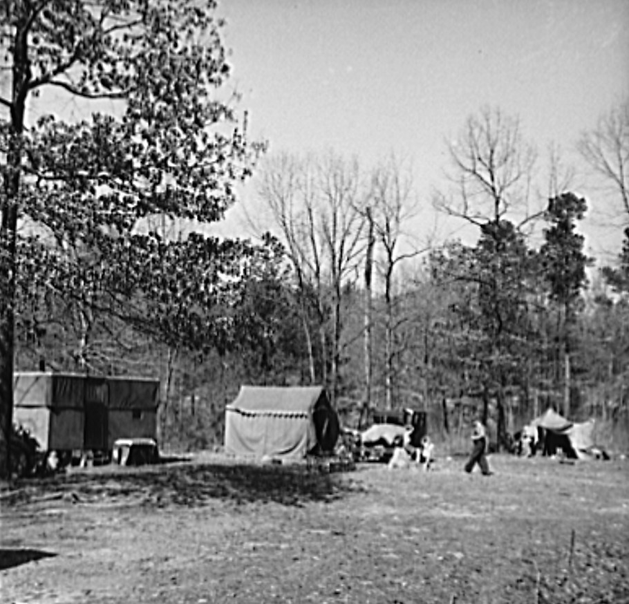 Camp for migrants near Birmingham, Alabama (Library of Congress)