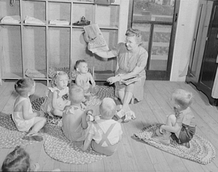 Childersburg, Alabama. WPA (Works Progress Administration) day nursey for defense workers children May 1942 (John Collier, LOC)