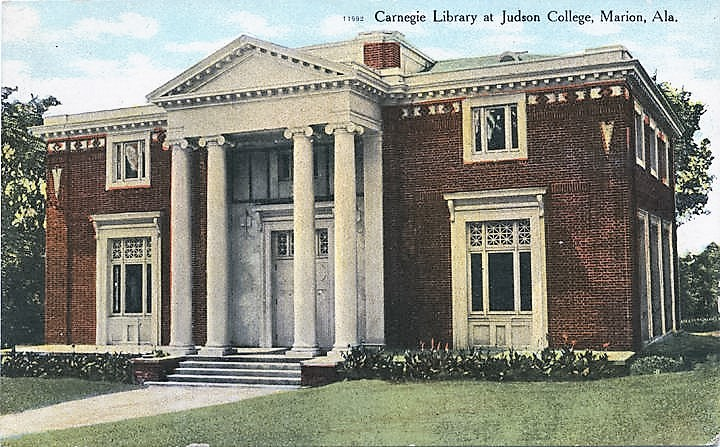 Judson Carnegie Library at Judson College, Marion, Alabama ca. 1900 (Alabama Department of Archives and History)