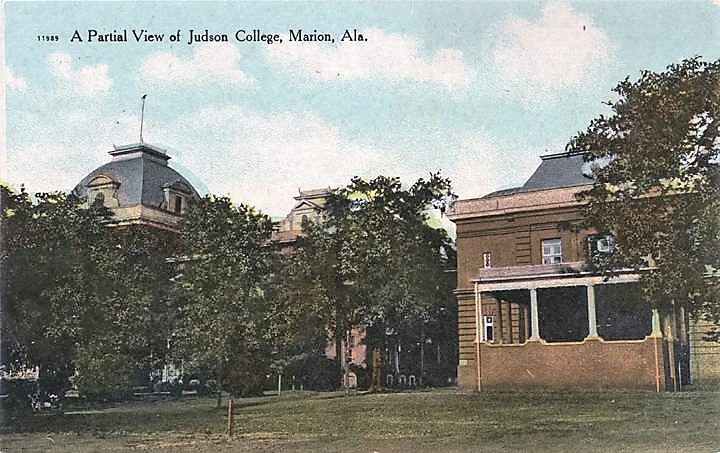 Judson - Partial View of Judson College, Marion, Alabama ca. 1900 (Alabama Department of Archives and History)