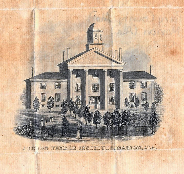 Judson -The First Jewett Hall burned in 1888 (Alabama Department of Archives and History)