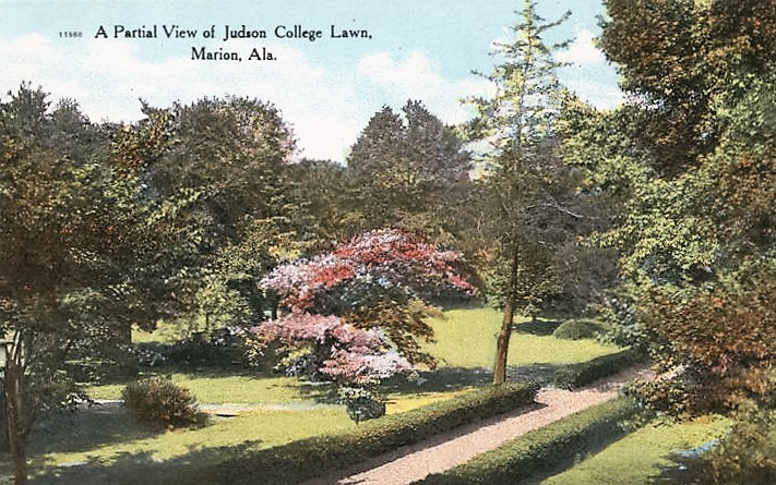 Judson View of Judson College Lawn, Marion, Ala ca. 1900 (Alabama Department Archives and History)