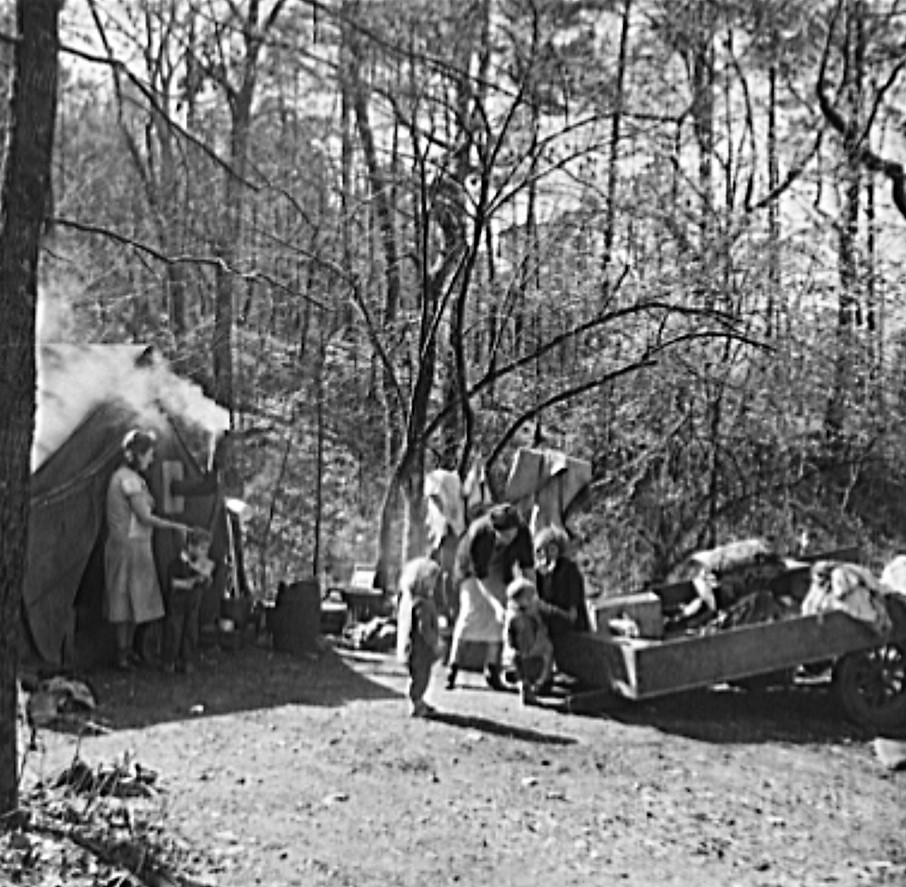 Scene of migrant camp on outskirts of Birmingham, Alabama (Library of Congress)