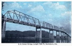 B. B. Comer Bridge was the only remaining bridge of original 15 toll bridges