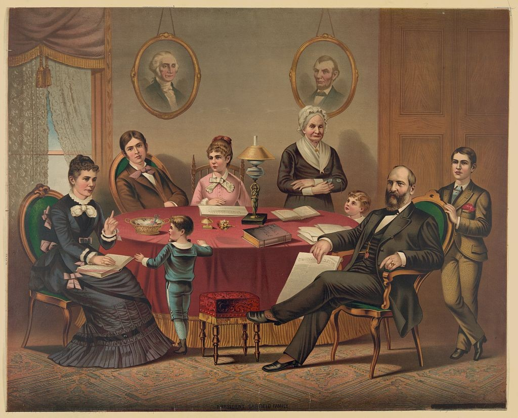 President Garfield and family 1881 (Library of Congress)