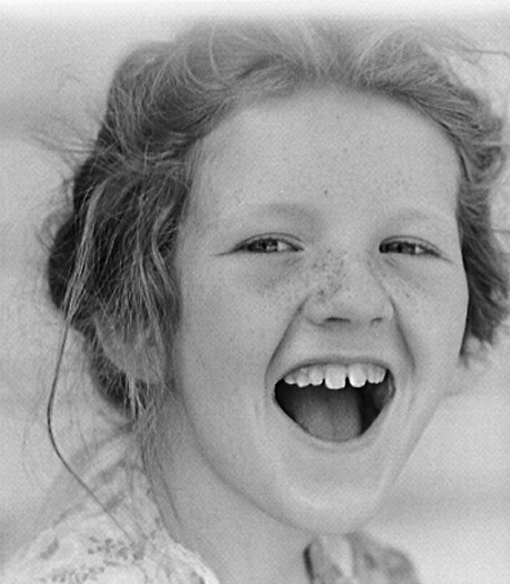 Laughing girl Childersburg, Alabama. Coosa Court defense housing project. Laughing girl 1942 (John Collier, Library of Congress)