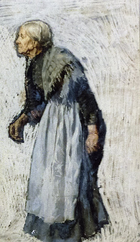 Old woman in apron and shawl (by Otto Henry Bacher, 1876, Library of Congress)