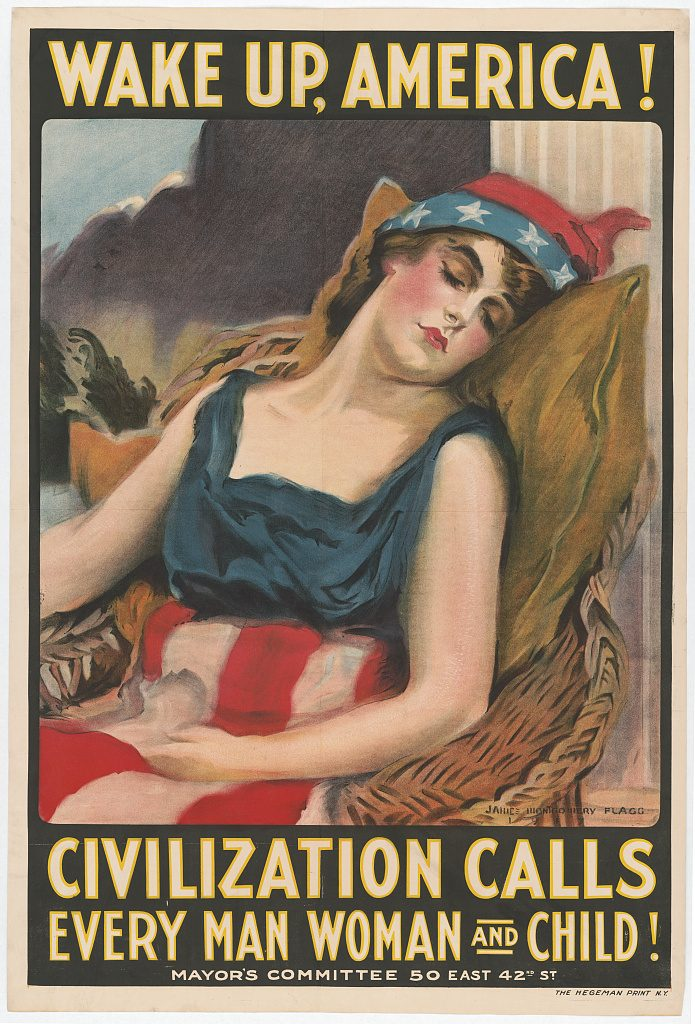 Wake up America poster. (Library of Congress)