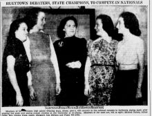April 4, 1939 – A picture from the past, Hueytown debate team were state champions