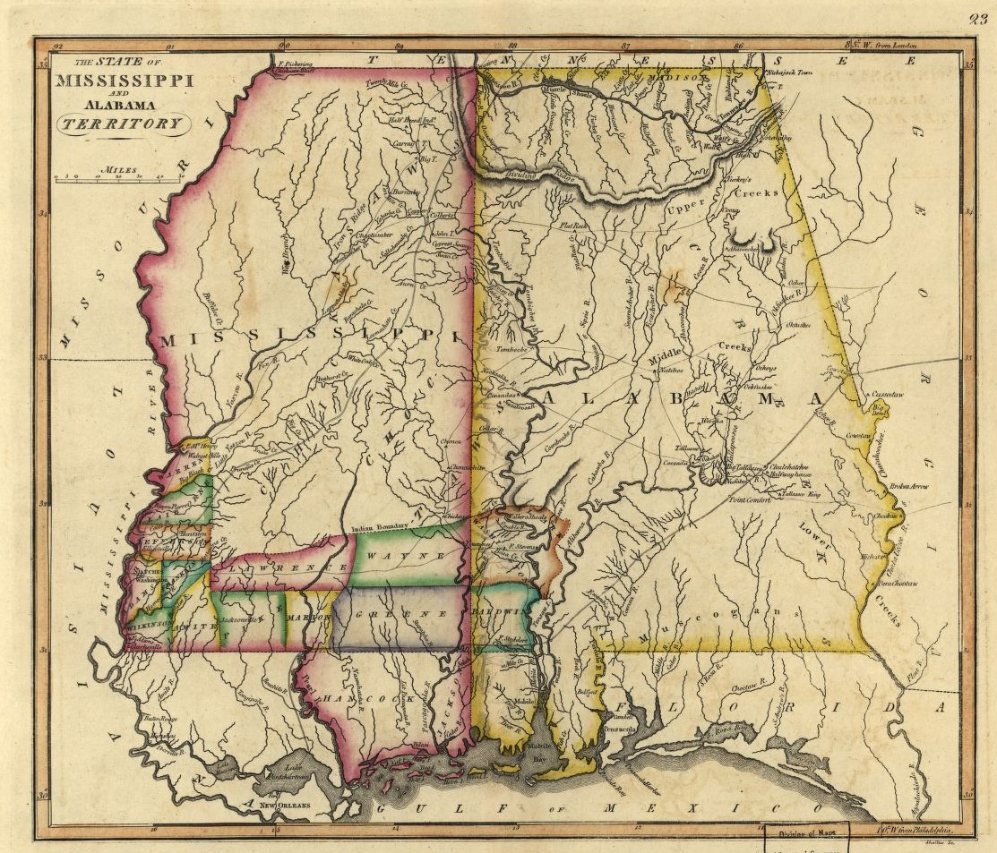 PATRON – First  Names and Lands patented in Alabama, Mississippi Territory August 1817