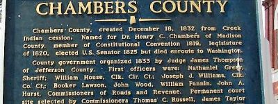 There was an outdoor courthouse in Chambers County, Alabama in 1830s