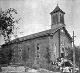 The beginning of Dexter Avenue Baptist Church in Montgomery, Alabama
