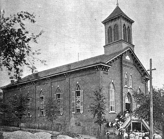 The beginning of Dexter Avenue Baptist Church in Montgomery, Alabama
