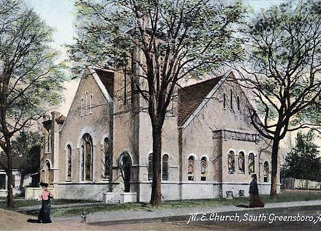 A Methodist church was established in Greensboro, Alabama before 1822