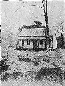The first public school in Greensboro was outside the corporate limits across Caldwell Creek