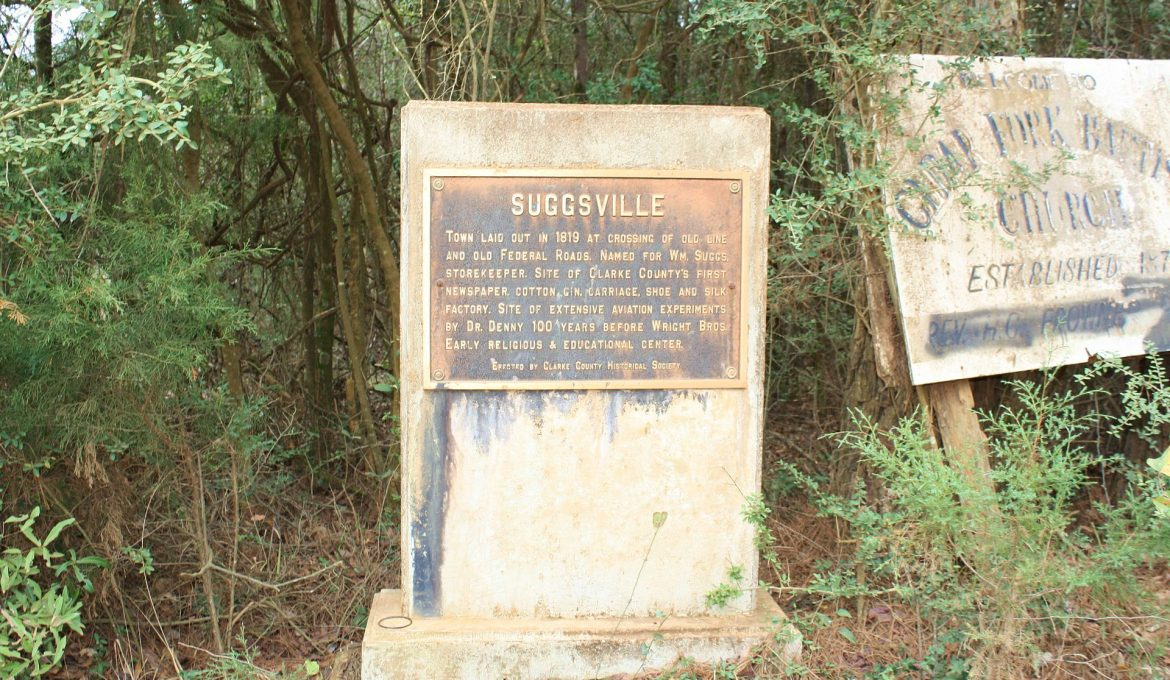 PATRON + Suggsville, Alabama was a growing town in 1813