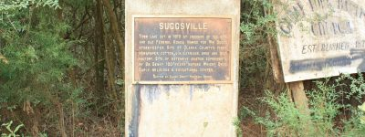 Suggsville, Alabama was a growing town in 1813