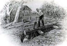 Lumber for the White House in St. Stephens was acquired with a whipsaw