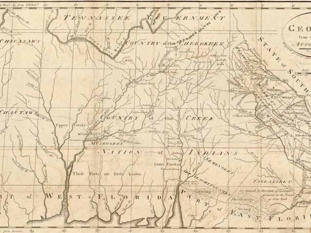 PATRON+ Creek land in Alabama was ceded in 1802