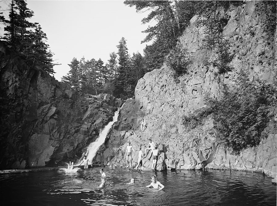 The old swimming hole - there is nothing like it on a hot day