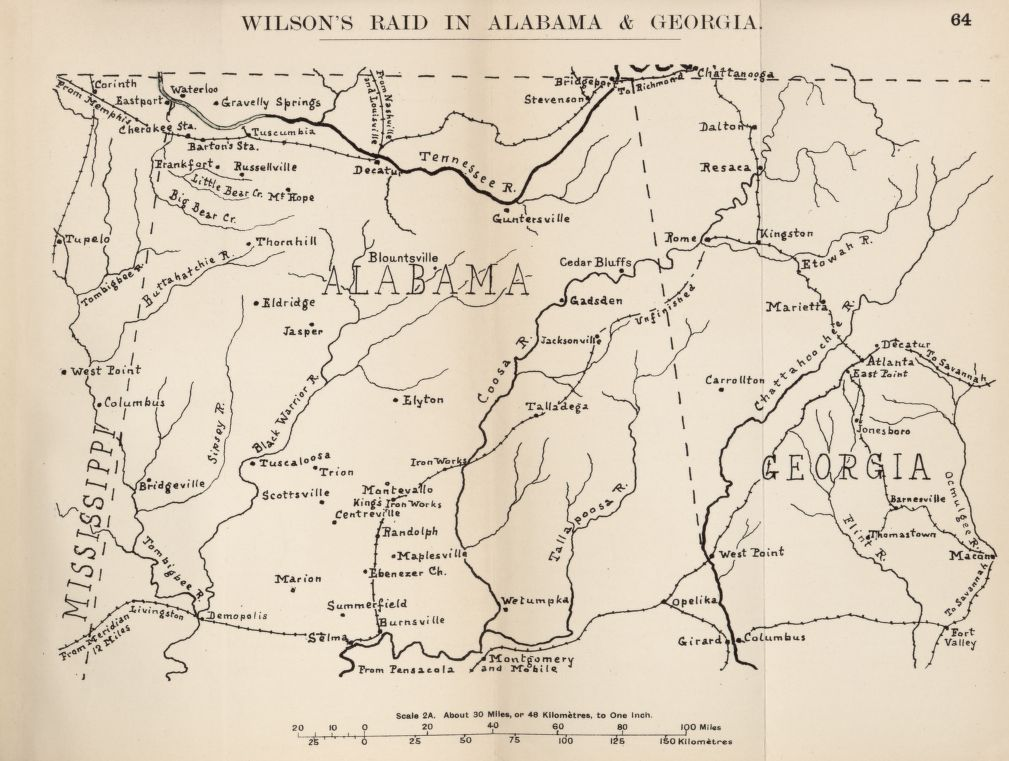To Tuscaloosa and Beyond: Letter from A Union Cavalry raider in Alabama, March-April 1865