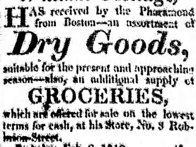 Patron – Deaths, Theft, Estates and Ferry from the Blakeley Sun, Blakely Alabama 1819