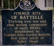 Patron+ Battelle, now a ghost town in Alabama, had a furnace that was moved to India in 1917