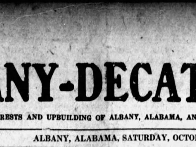 Citizens from Albany, Alabama were flocking to the Fair in Birmingham in 1920