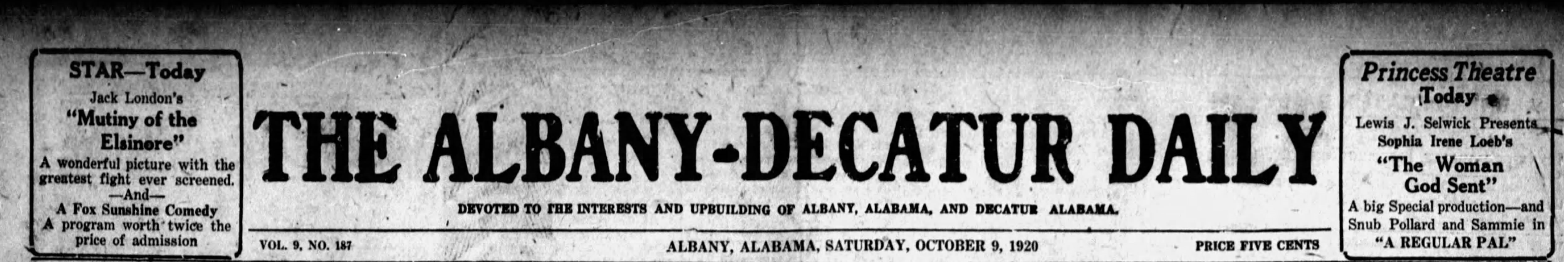Patron - Citizens from Albany, Alabama were flocking to the Fair in Birmingham in 1920
