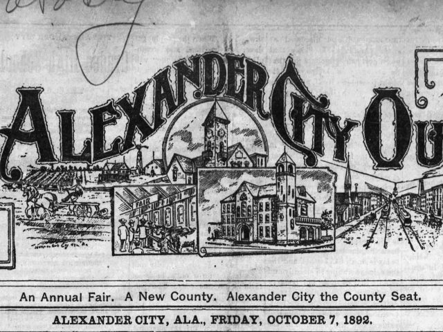 News notes Transcribed From The Alexander Outlook, Alexander City, Alabama, Oct 7, 1892, reveal much about the people