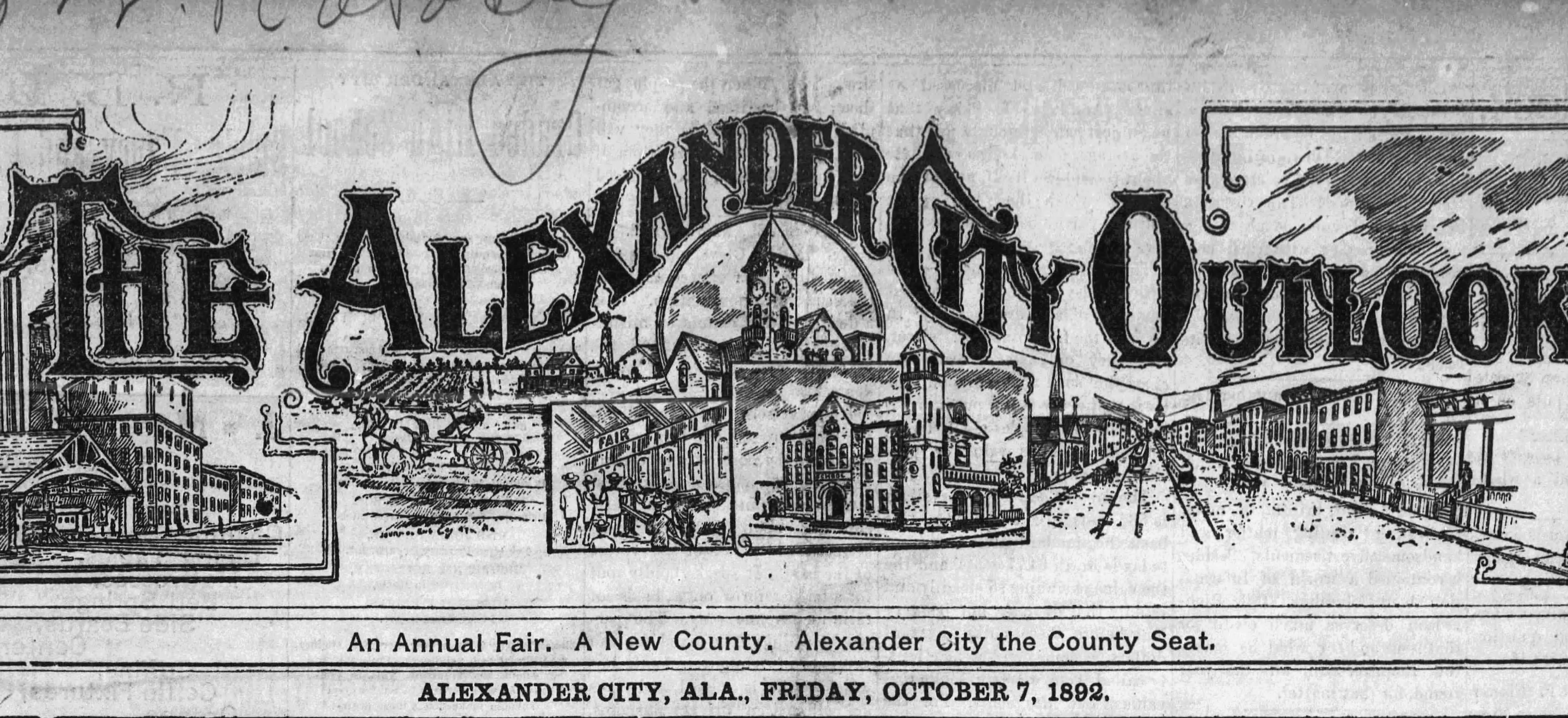 Patron - News notes Transcribed From The Alexander Outlook, Alexander City, Alabama, Oct 7, 1892, reveal much about the people