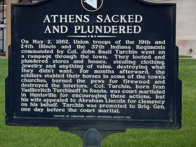 Patron – On May 9, 1856,  (4 years before it was sacked an plundered) This was the news in Athens, Alabama