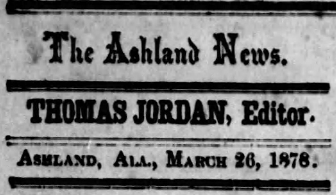 PATRON – April 5, 1878 — School, Sheriff's sale and tragic accident in the news in Ashville, Alabama