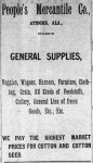 Patron – Trusted business men in Atmore on September 18, 1903 according to The Atmore Record, Alabama