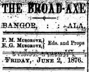 Patron- Law office and Prof. Henry's school in Bangor, Alabama June 2, 1860