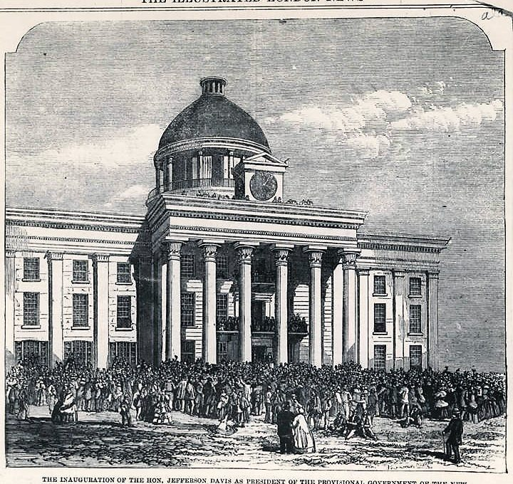 Patron+ Simpson Manuscript – Details and names of people involved in the Inauguration of Jefferson Davis