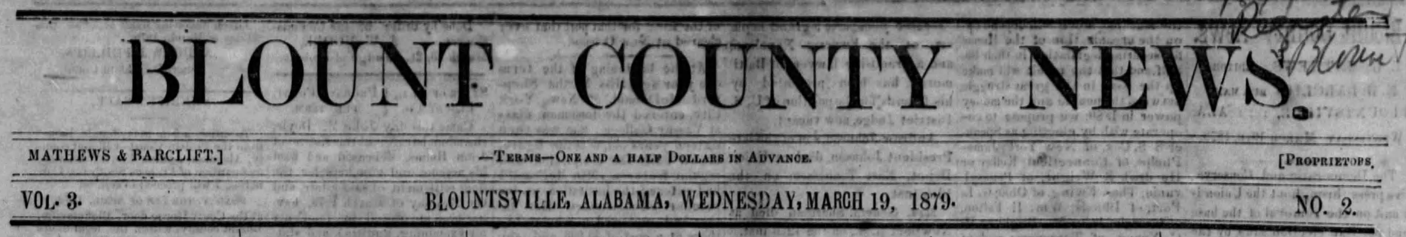PATRON - March 19, 1879 - Sheriff announces sale of property