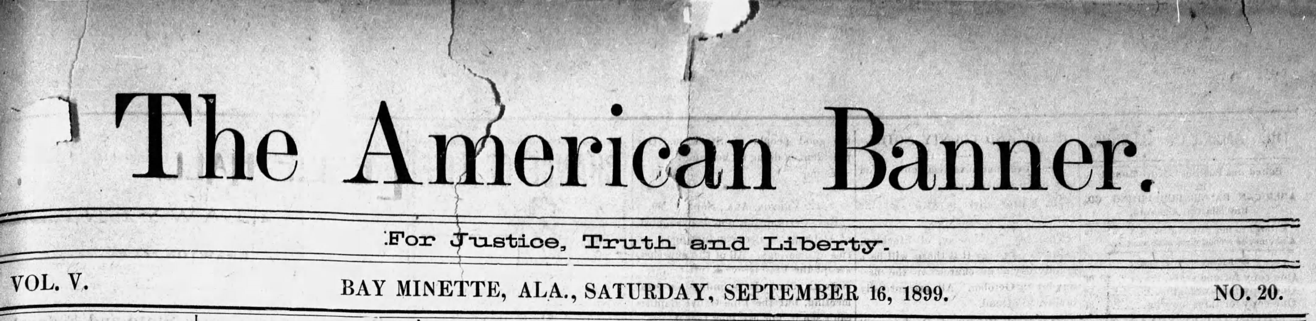 Patron - Local news from The American Banner (Bay Minette, Alabama, September 16, 1899