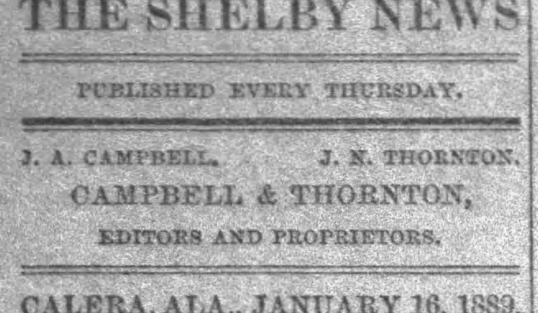 PATRON – Jan. 16, 1890 – Clanton, Chilton County local news, a death, and stray horse