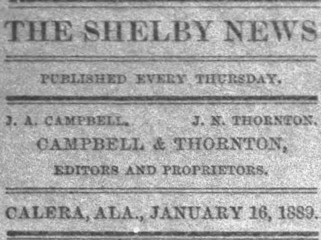 PATRON – Jan. 16, 1890 – Clanton, Chilton County local news, a death, and stray horse