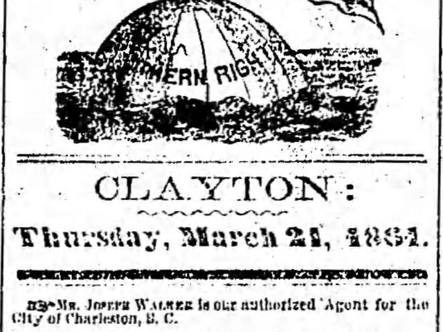 Patron – Preparing for the War Between the States, deaths, and a divorce occurred in Clayton, Alabama March 1861